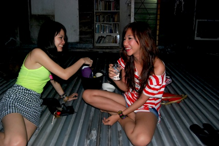 drinking session at our rooftop