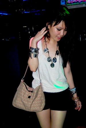 top: plains and prints, tansan necklace, bag: fendi